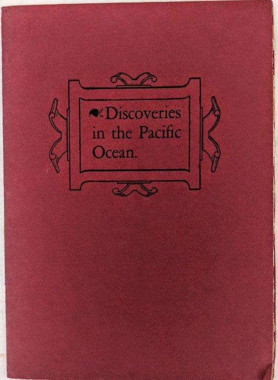 Image for A Brief Chronology of Discovery in the Pacific Ocean from Balboa to Capt. Cook's First Voyage, 1513-1770.