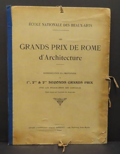 Image for Les Grands Prix de Rome d'Architecture : Reproduction en Phototypie des 1ers, 2mes & 2mes seconds grands prix