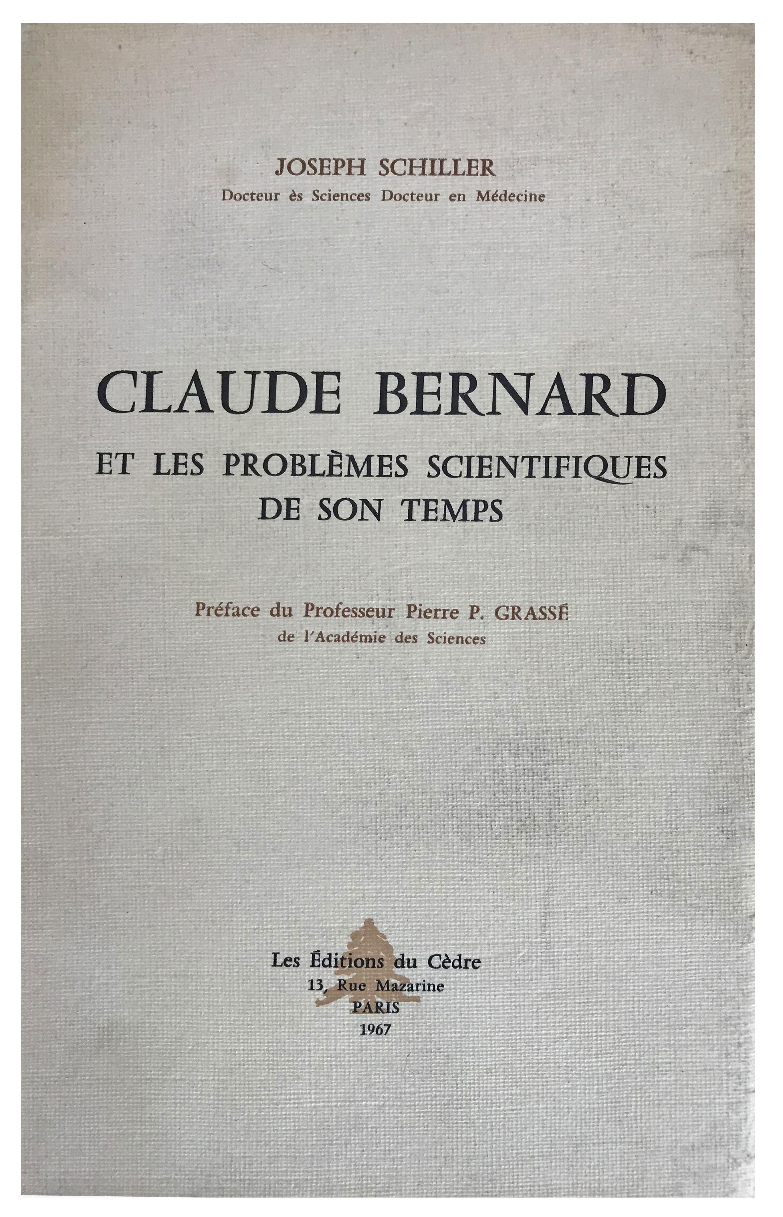 Image for Claude Bernard et les Problemes Scientifiques de son Temps.