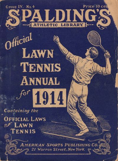 Image for Spalding's Athletic Library Official Lawn Tennis Annual for 1914