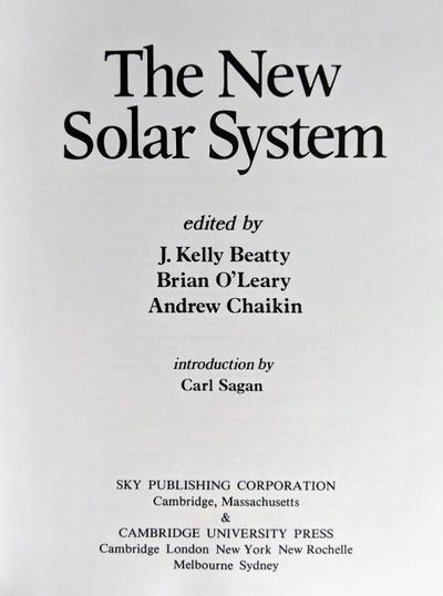 Image for The New Solar System. Introduction by Carl Sagan.