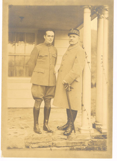 ORIGINAL SILVER PRINT PHOTOGRAPH OF THE FRENCH WORLD WAR I HERO MARSHALL FOCH DURING HIS VISIT TO CLEVELAND, (Foch, Marshall Ferdinand). Moore, Frank