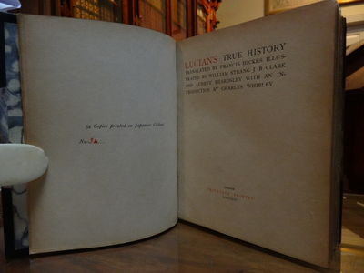 Image for Lucian's True History. One of only 54 copies on Japanese vellum in a  Rowfant Binding.