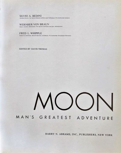Image for Moon: Man's Greatest Adventure. Edited by Davis Thomas.