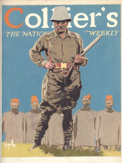 Image for Roy Miller Theodore Roosevelt Gouache proposed for Collier's The National Weekly -Theodore Roosevelt in Africa