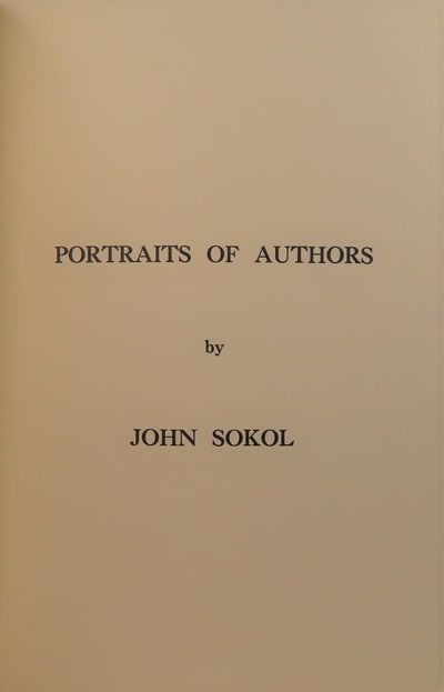Image for Portraits of Authors