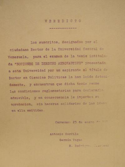Image for Nociones de derecho Aeronautico