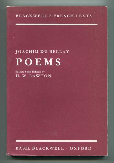 Poems, Du Bellay, Joachim