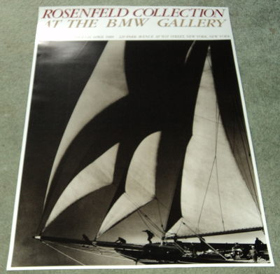 YACHT UNDER SAIL PHOTOGRAPH: A SUPERB POSTER FOR THE EXHIBITION OF THE ROSENFELD COLLECTION AT THE BMW GALLERIES, (Rosenfeld)