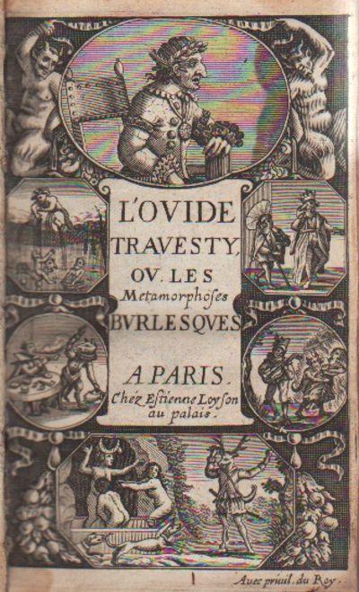 Image for L'Ovide Bouffon / L'Ovide Travesty, ou Ies Métamorphoses Burlesques