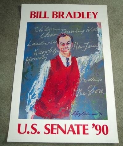 ORIGINAL 1990 BILL BRADLEY SENATE CAMPAIGN POSTER BY LEROY NEIMAN, (Bradley, Bill). Neiman, LeRoy