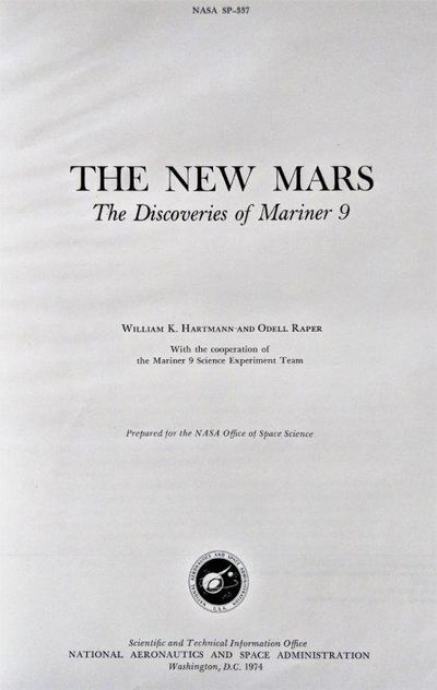 Image for The New Mars; The Discoveries of Mariner 9. NASA SP-337.