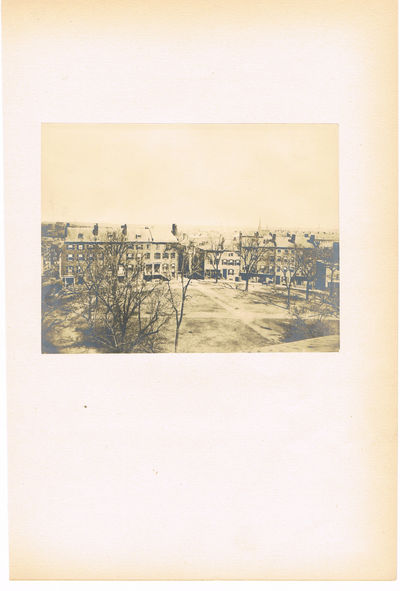 ORIGINAL 19TH CENTURY HISTORIC PHOTOGRAPH OF FORT HILL, IN BOSTON, (Fort Hill, Boston)