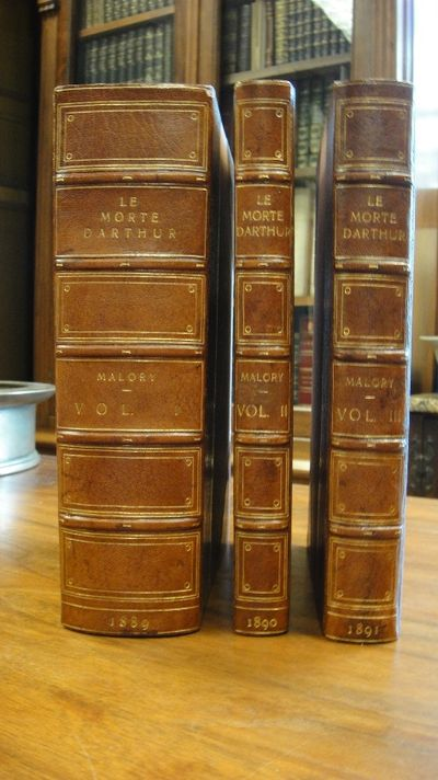 Le Morte d'Arthur. The Original Edition of William Caxton. Three volumes  complete with Introduction and Studies on the Sources.