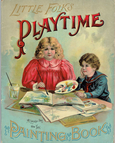 LITTLE FOLKS PLAYTIME PAINTING BOOK, (McLoughlin Bros.)