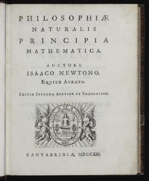 Philosophiae Naturalis Principia Mathematica   Editio