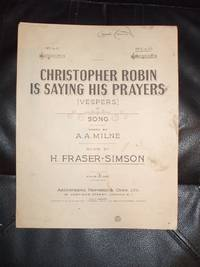 christopher robin is saying his prayers sheet music pdf