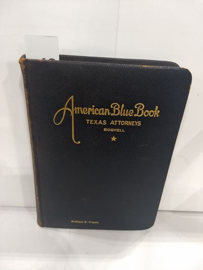 Image for American Blue Book Texas Attorneys (Boswell)