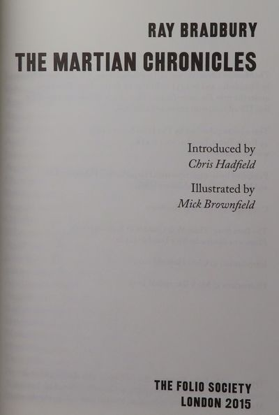 Image for The Martian Chronicles, with introduction by Chris Hadfield, and illustrated by Mick Brownfield