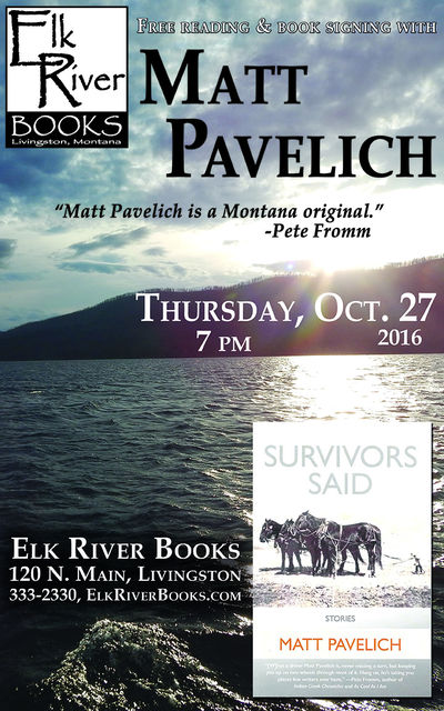 "Matt Pavelich ""Survivors Said"" Poster, 27 October 2016"