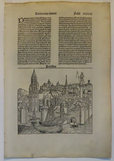 Image for Liber Chronicarum  (Nuremberg Chronicle) the PARIS leaf