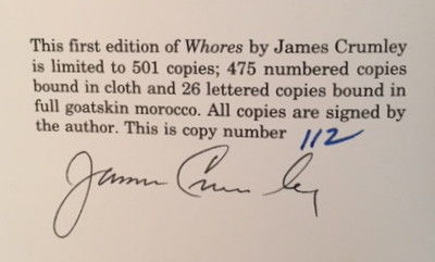 Whores, Crumley, James