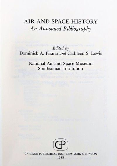 Image for Air and Space History; An Annotated Bibliography.