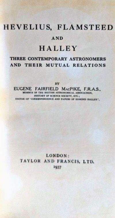 Image for Hevelius, Flamsteed and Halley: Three Contemporary Astronomers and Their Mutual Relations.