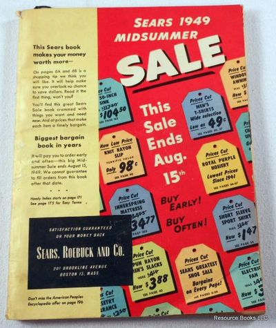 Sears 1949 Midsummer Sale Book: Sears, Roebuck & Co. Catalog 1949, Sears, Roebuck and Co.