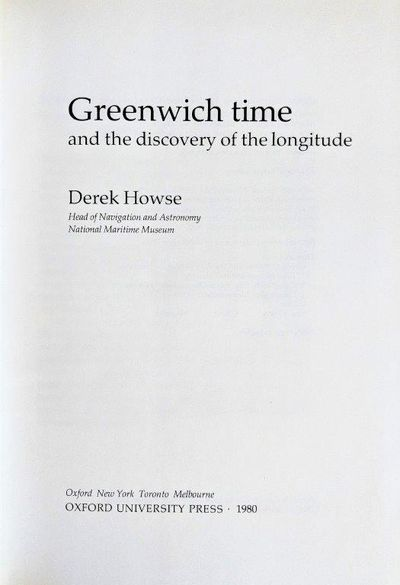 Image for Greenwich Time and the Discovery of the Longitude.