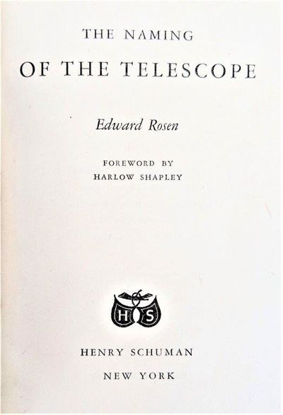 Image for The Naming of the Telescope.