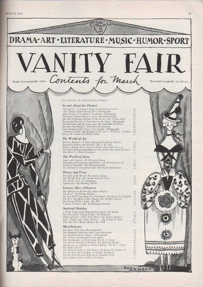 Image for Vanity Fair Magazine, March, 1924