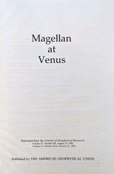 Image for Magellan at Venus.