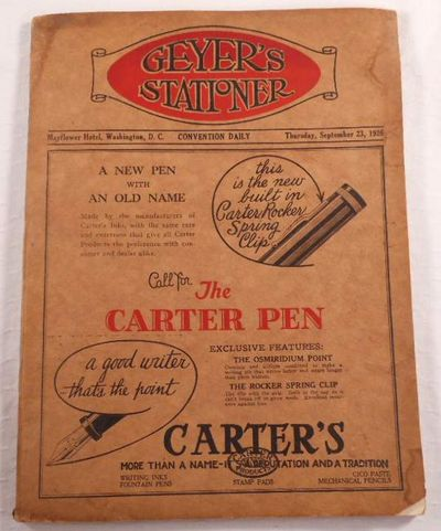 Geyer's Stationer Convention Daily, Thursday, September 23, 1926.  National Association of Stationers, Office Outfitters and Manufacturers Conference, Geyer's Stationer