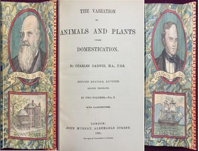 The Variation of Animals and Plants under Domestication. Second edition, revised. Eighth thousand. With illustrations., DARWIN, Charles.