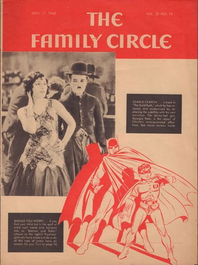 Image for The Family Circle, Vol. 20, No. 16 featuring early Bat Man April 17, 1942