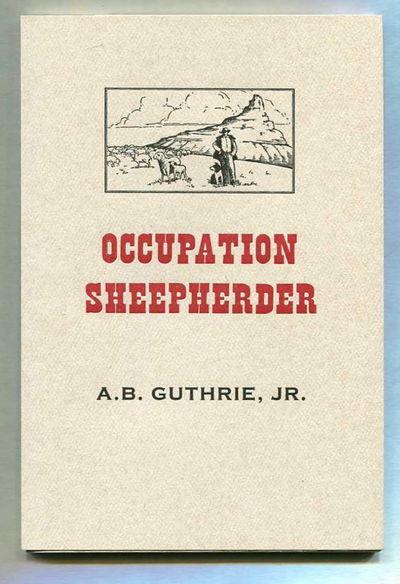 Occupation Sheepherder, Guthrie, A.B. Jr.