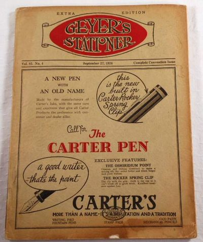 Geyer's Stationer.  Complete Convention Issue - Extra Edition, September 27, 1926.  National Association of Stationers, Office Outfitters and Manufacturers Conference, Geyer's Stationer