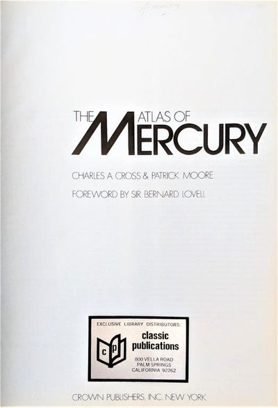 Image for The Atlas of Mercury.