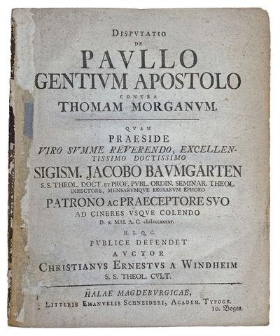 Image for Disputatio de Paullo Gentium Apostolo Contra Thomam Morganum.