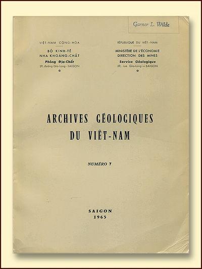Archives Geologiques Du Viet-Nam  Numero 7
