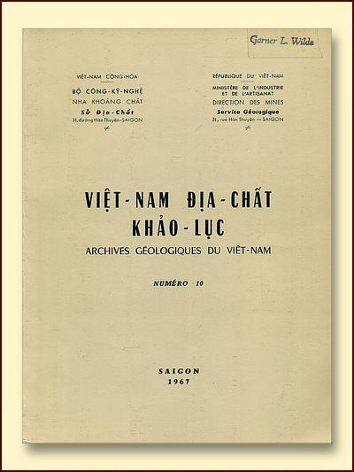Archives Geologiques Du Viet-Nam  Numero 10