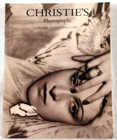 Christie's: Photographs. New York, October 3, 1996. Auction 8482, Christie's  [Auction Catalog] [Auction Catalogue]