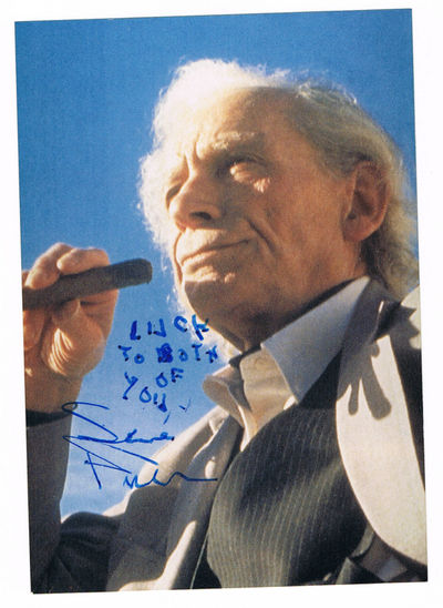 A RARE INSCRIBED & SIGNED PHOTOGRAPH OF THE AMERICAN FILM DIRECTOR SAMUEL FULLER, Fuller, Samuel (1912-1997). Great American Film Director