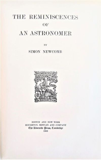 Image for The Reminiscences of an Astronomer.