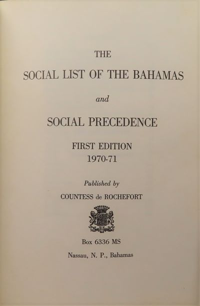 Image for The Social List of The Bahamas; 1970