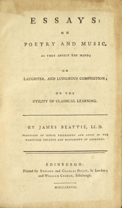 """beattie essay on poetry and music Beattie , james, lld  a new edition of his 'essay on truth,' to which were added some miscellaneous dissertations on """"poetry and music  essay on the."""
