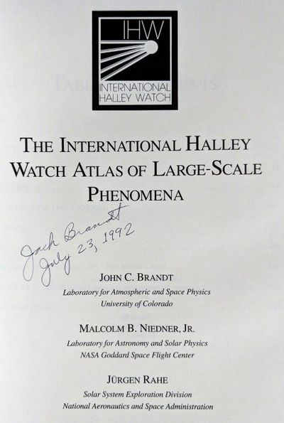 Image for The International Halley Watch Atlas of Large-Scale Phenomena.
