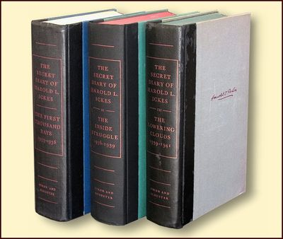 The Secret Diaries of Harold L. Ickes 3 Volumes, Ickes, Harold L.
