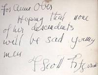 F Scott Fitzgerald signature